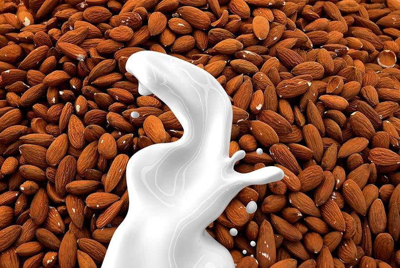 فوائد حليب اللوز العضوي